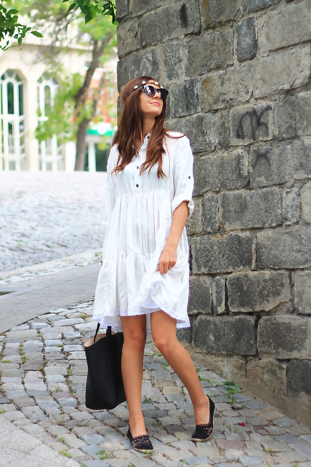 Cute white boho dress